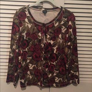 Rafaella floral cardigan